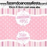 Saquinho de Balas Dia dos Professores Corujinha Rosa