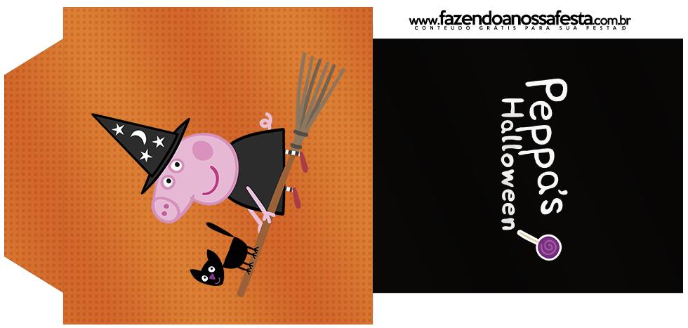 Saquinho de Chá Peppa Pig Halloween
