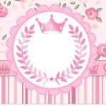 Squezze Coroa de Príncesa Rosa Floral
