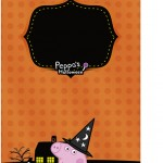 Tag Agradecimento Peppa Pig Halloween