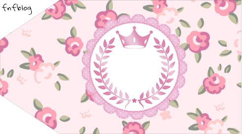Tag Pequena Coroa De Princesa Rosa Floral Fazendo A Nossa Festa