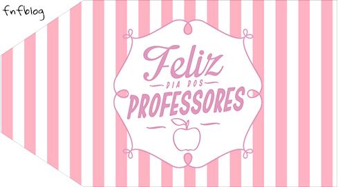 Tag pequena Dia dos Professores Corujinha Rosa