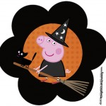 Topper Flor Peppa Pig Halloween