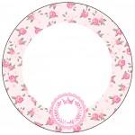 Toppers para Docinhos e Cupcakes Coroa de Princesa Rosa Floral