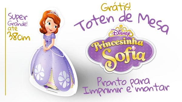 Centro De Mesa Princesa Sofia Gratis Para Imprimir