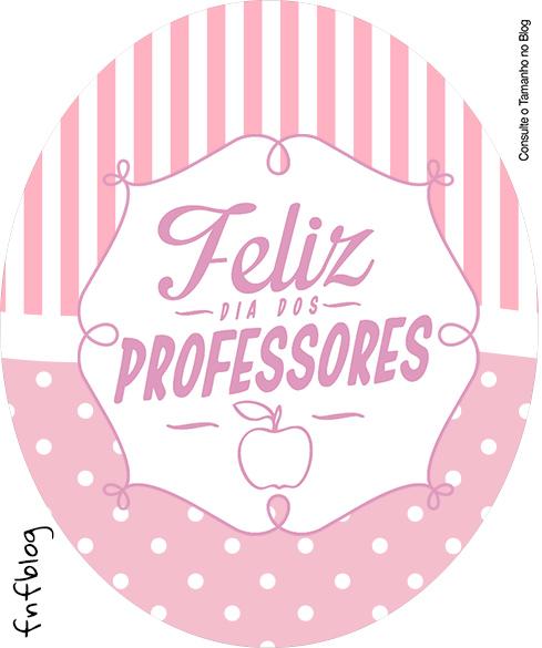 Tubete Oval Dia dos Professores Corujinha Rosa