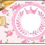 Vale Brinde Coroa de Princesa Rosa Floral