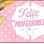 Vale Brinde Dia dos Professores Corujinha Rosa
