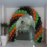 Arco Balões Festa Mickey Safari do Davi