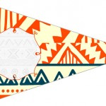 Bandeirinha Docinhos 4 Corujinha Laranja Indie