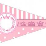 Bandeirinha Sanduiche 2 Kit Realeza Rosa