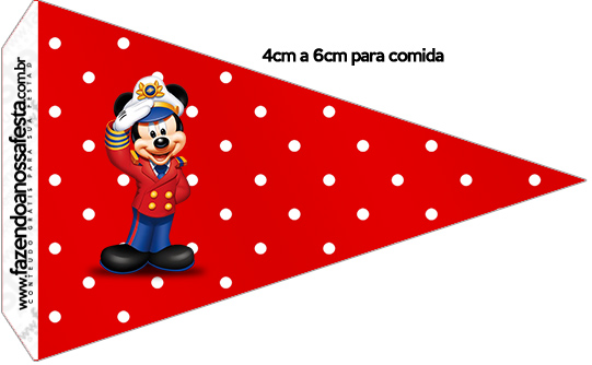 Bandeirinha Sanduiche 2 Mickey Marinheiro