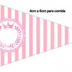 Bandeirinha Sanduiche 4 Kit Realeza Rosa