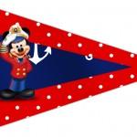 Bandeirinha Sanduiche 4 Mickey Marinheiro