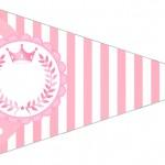 Bandeirinha Sanduiche 5 Kit Realeza Rosa