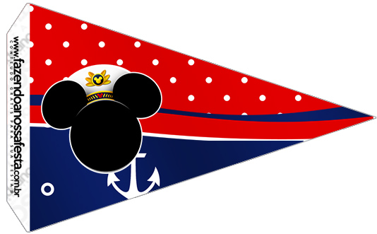 Bandeirinha Sanduiche 5 Mickey Marinheiro