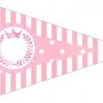 Bandeirinha Sanduiche 6 Kit Realeza Rosa