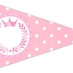 Bandeirinha Sanudiche 3 Kit Realeza Rosa