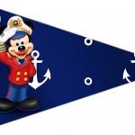 Bandeirinha Sanduiche 6 Mickey Marinheiro