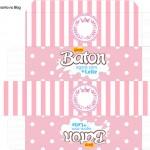 Caixa Baton Kit Realeza Rosa