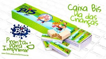 Caixa Bis Dia das Crianças Imprima Gratis