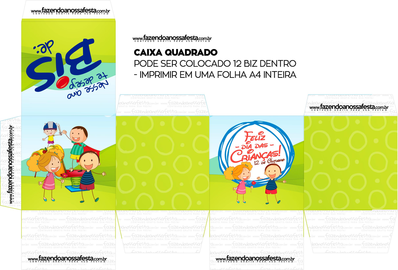 Caixa Bis Dia das Crianças - Quadrada