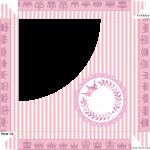 Caixa Bombom Kit Realeza Rosa - Parte de cima