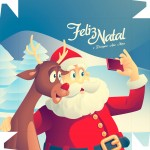 Caixa Bombom Natal Papai Noel Selfie