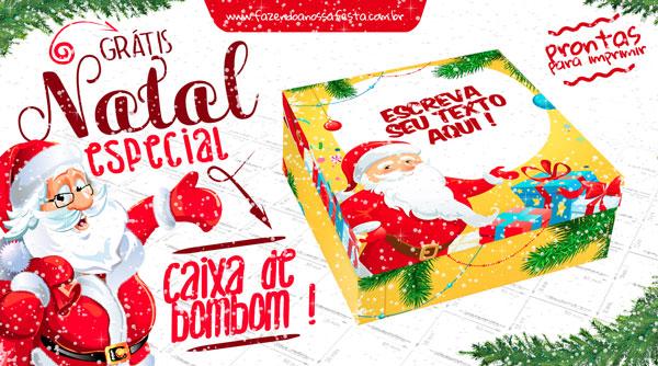 Caixa Bombom Personalizada Para Natal Gratis
