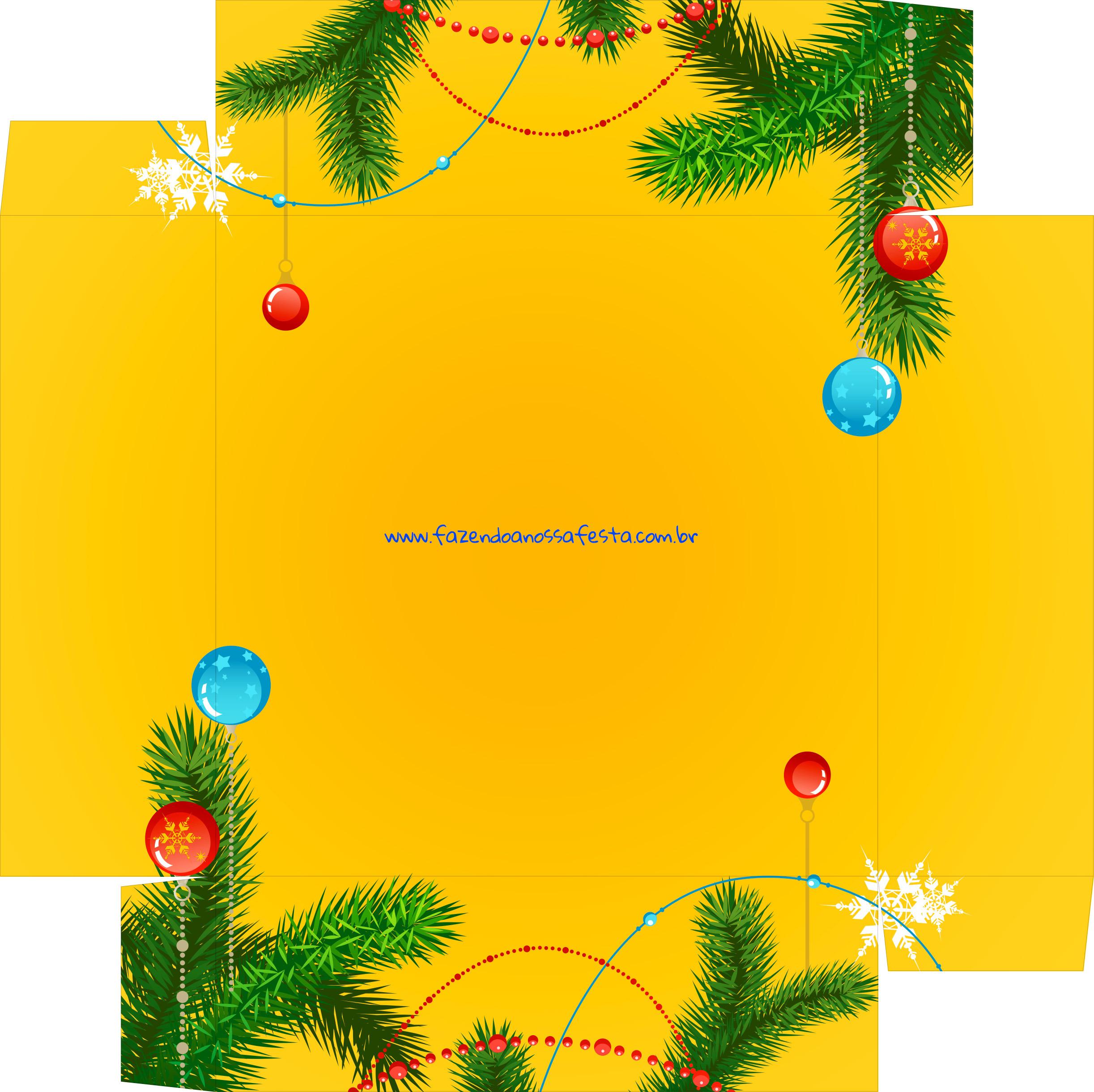 Caixa Bombom Presente Natal - parte de baixo