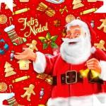 Caixa Bombom para o Natal Papai Noel - Parte de cima