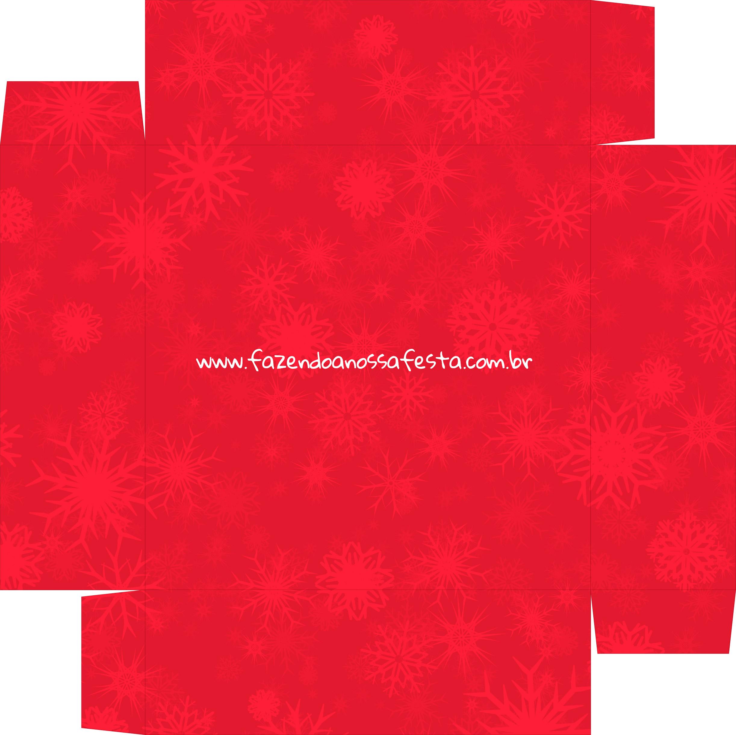 Caixa Bombom personalizada para Natal - parte de baixo
