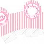 Caixa Cupcake Kit Realeza Rosa