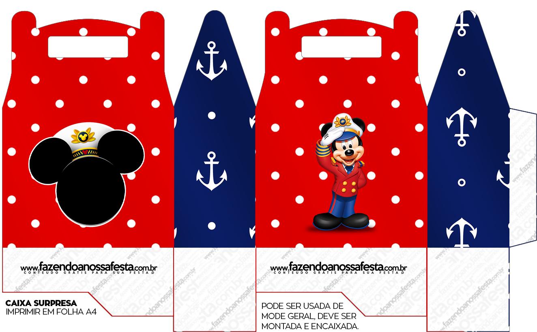 Caixa Lembrancinha Mickey Marinheiro