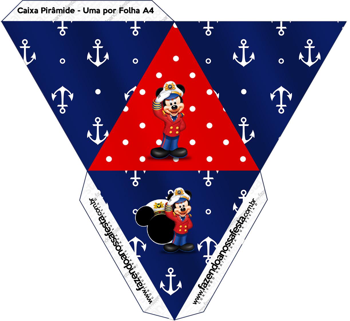 Caixa Pirâmide 2 Mickey Marinheiro