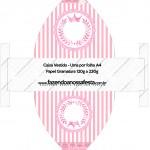 Caixa Vestido Kit Realeza Rosa