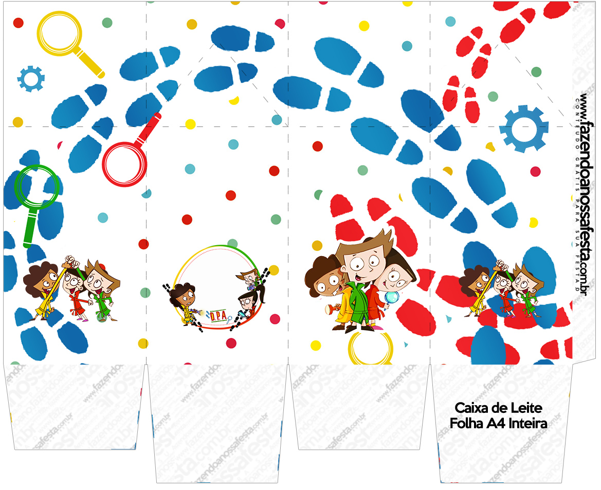 Caixa de Leite DPA Detetives do Prédio Azul