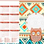 Calendário 2016 Corujinha Laranja Indie