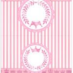 Cartão Agradecimento de Mesa Kit Realeza Rosa