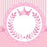 Cartão Festa Realeza Rosa