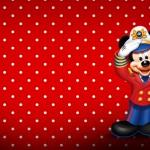 Cartão Mickey Marinheiro