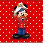 Cartão para festa Mickey Marinheiro