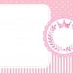 Cartão para festa Realeza Rosa