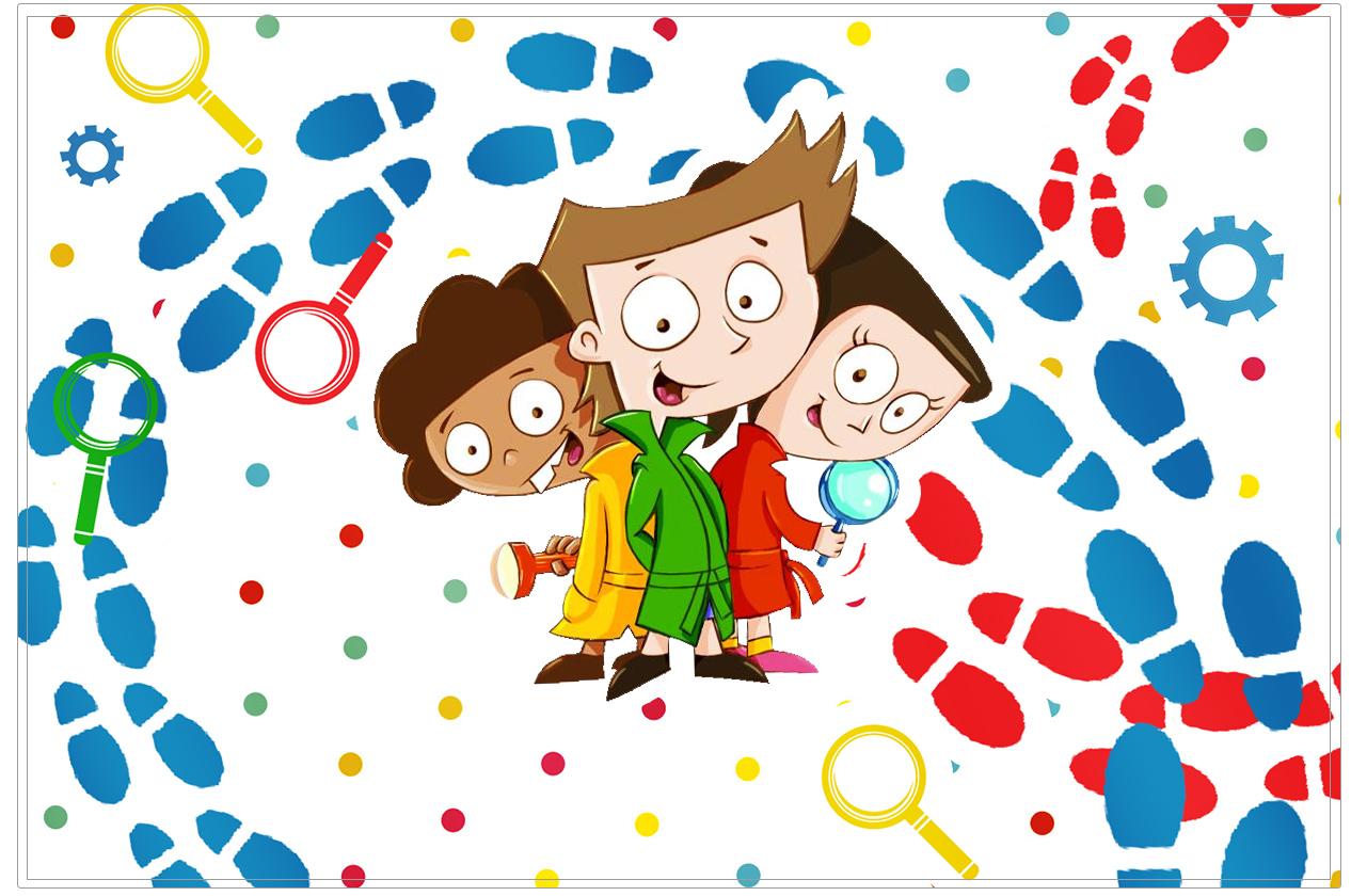 Cartão para festa infantil DPA Detetives do Prédio Azul