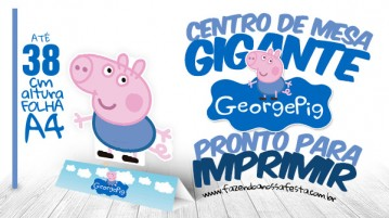 Centro de Mesa Toten Display George Pig