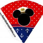 Cone Guloseimas Mickey Marinheiro