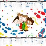 Convite Calendário 2015 DPA Detetives do Prédio Azul