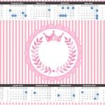 Convite Calendário 2015 Kit Realeza Rosa