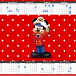 Convite Calendário 2015 Mickey Marinheiro