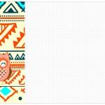 Convite, Cardápio ou Cronograma em Z Corujinha Laranja Indie